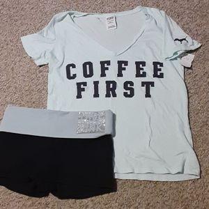VS PINK t-shirt/shorts